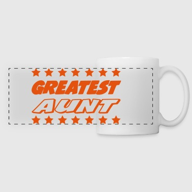 Greatest aunt - Panoramic Mug