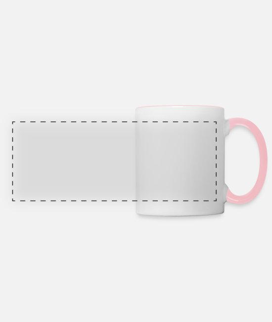 Happy Mugs & Drinkware - Cranberry Vibes & Tunes Recipe for Happiness - Panoramic Mug white/pink