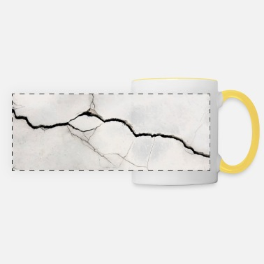 crack gradient tear realistic 3d design background - Panoramic Mug