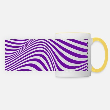 abstract optical illusion trippy hypnotic dizzy - Panoramic Mug