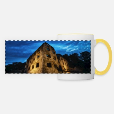 Castle ruin Landskrone Oppenheim at the blue hour - Panoramic Mug