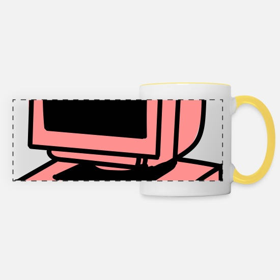 Laptop Mugs & Drinkware - Computer - Panoramic Mug white/yellow