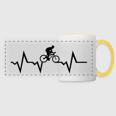 Cyclist & Heartbeat, cycling - Panoramamugg