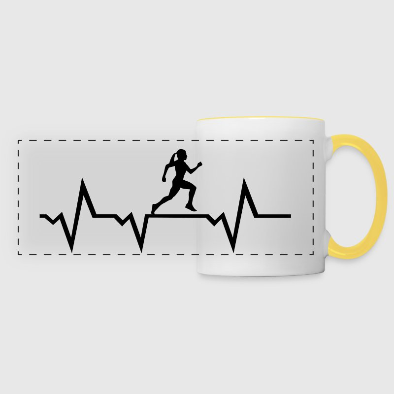 Running Woman & Heartbeat - Panoramic Mug