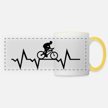 Cyclist Cyclist & Heartbeat, cycling - Kubek panoramiczny