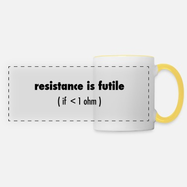 Resistance Resistance is futile - Panoramic Mug