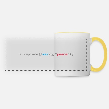 Geek replace war with peace - Panoramic Mug