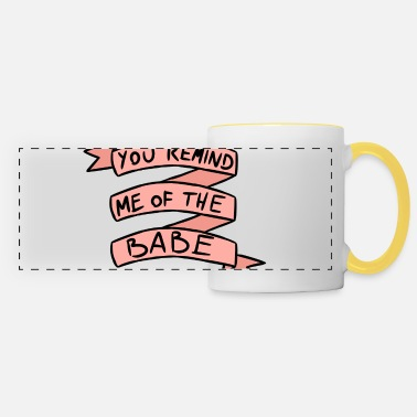 Jennifer Connelly You Remind Me Of The Babe - Panoramic Mug