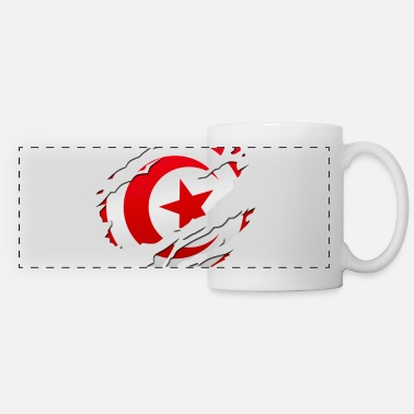 Peace Design Europe World Chad Ghana Tunisian africa flag tunisia tunisie - Panoramic Mug