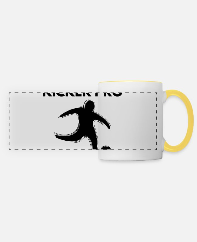 Terrain De Football Mugs et tasses - kicker pro - Mug panoramique blanc/jaune