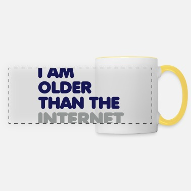 2 0 Html I am older than the internet - Panoramic Mug