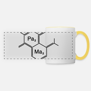 Humorous Son Provoking chemical papa + mama - Panoramic Mug