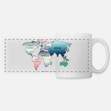 World World Map, World Map - Panoramic Mug