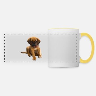 Melt saying :wuf,wuf,wuf design ,sweet dog - Panoramic Mug