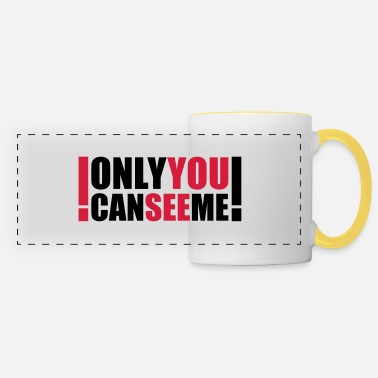 Dead Hilarious Comedy only you can see me - Panoramic Mug