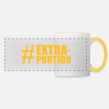 Tasty Underwear lustige Motive: extra portion - Panoramic Mug