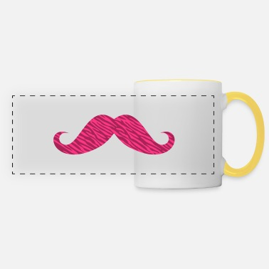 I love moustache zèbre rose - Mug panoramique