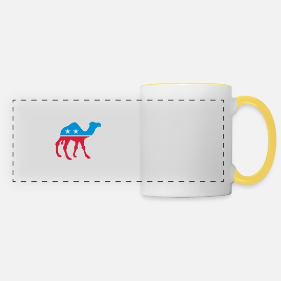 Alcohol Mugs & Drinkware - Political Party Animals: Camel - Panoramic Mug white/yellow