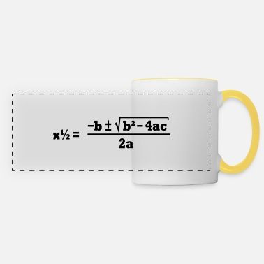 Quadrat quadratic formula - Panoramic Mug