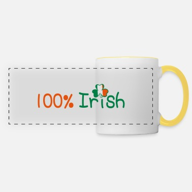 Uk Underwear ♥ټ☘Kiss Me I'm 100% Irish-Irish Rule☘ټ♥ - Panoramic Mug