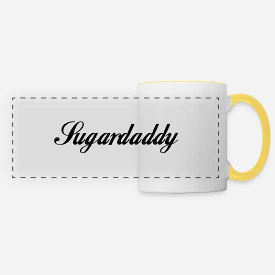 Celebrate Mugs & Drinkware - Sugar Daddy - Panoramic Mug white/yellow
