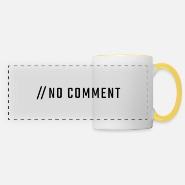 Uppercase NO COMMENT - uppercase - Panoramic Mug
