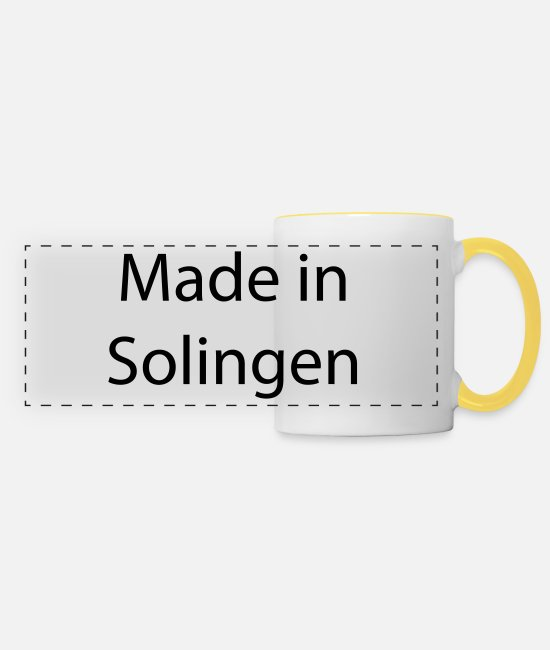 Rheinland Mugs & Drinkware - Solingen - Panoramic Mug white/yellow