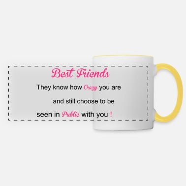 Friends Best Friends - Panoramic Mug