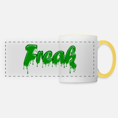 Gloopy Writing Green Gloop Freak - Panoramic Mug