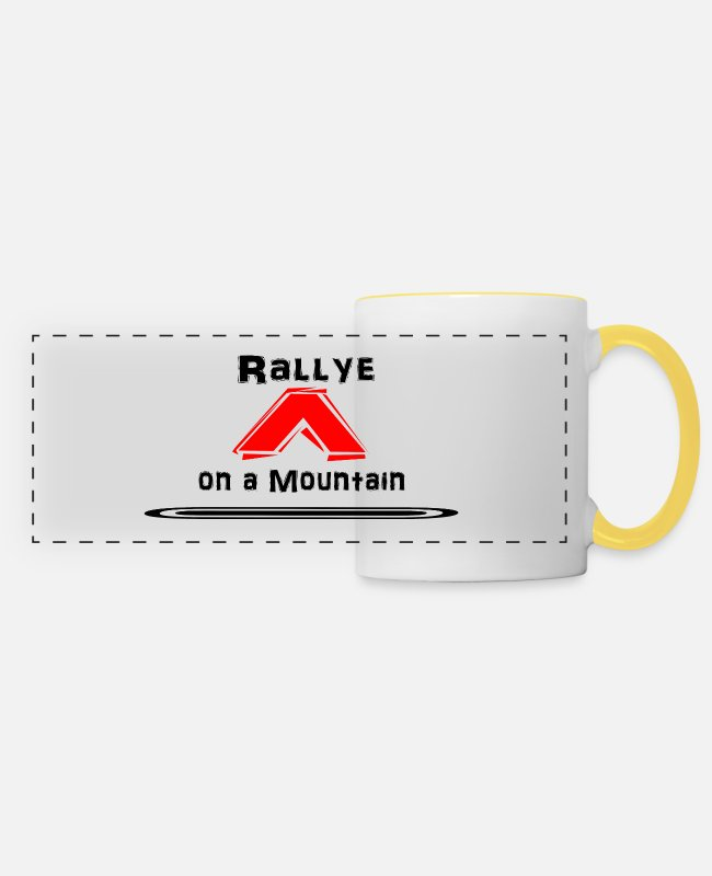 Party Mugs & Drinkware - Rally 22 - Panoramic Mug white/yellow