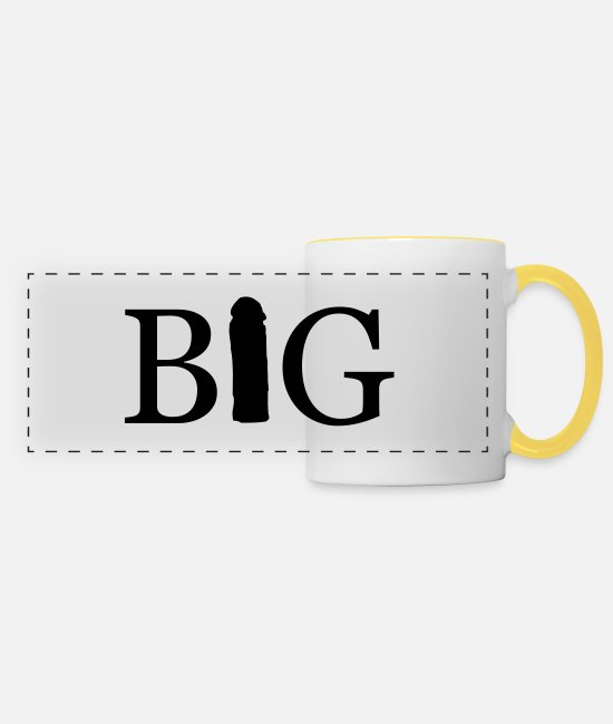 Big Mugs & Drinkware - big - Panoramic Mug white/yellow