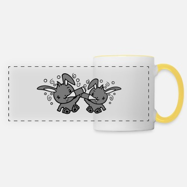 Rabbit Th 2 friends team duo brothers beer drink drinking th - Panoramic Mug
