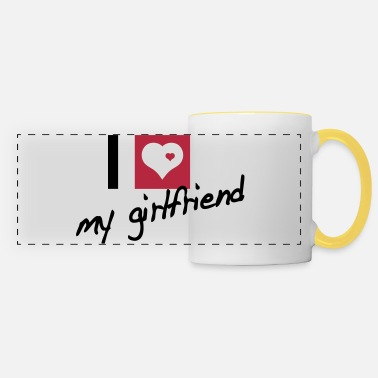 Girlfriend i love my girlfriend - Panoramic Mug