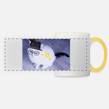 chat en fête - Mug panoramique