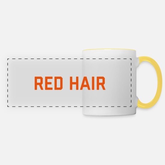 Funny Mugs & Drinkware - Red Hair Funny Quote - Panoramic Mug white/yellow