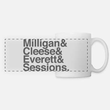 Milligan Cleese Everett Sessions (grey text) - Panoramic Mug