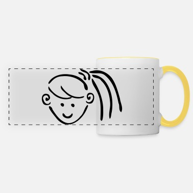 Ponytail Girl hair in ponytails - Panoramic Mug