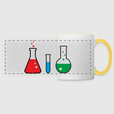 Laboratory flasks, science, chemistry - Kubek panoramiczny