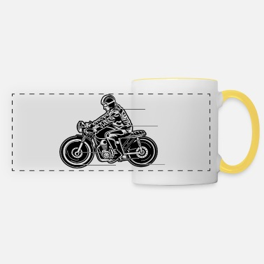 Machine Café Racer moto 04_black blanc - Mug panoramique
