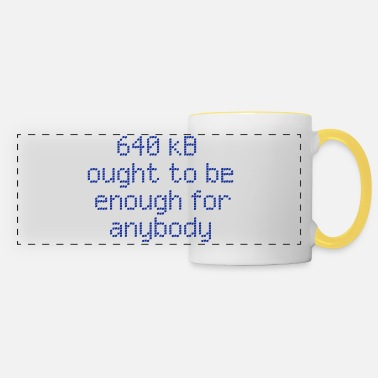 Humour 640 kB for anybody - Panoramic Mug