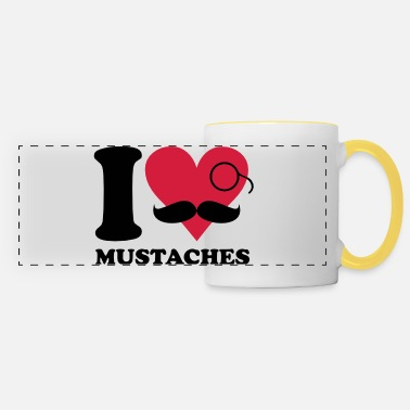 Sir I love mustaches - Tazza panoramica