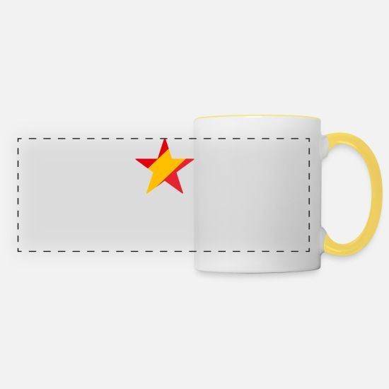 Star Mugs et récipients - Espana (dark) - Mug panoramique blanc/jaune