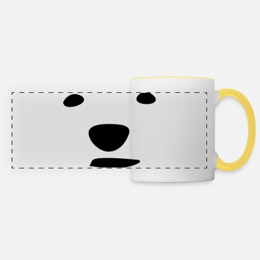 Bear Face Polar bear face - Panoramic Mug