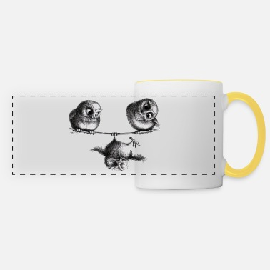 Stuff three owls - freedom and fun - Panoramic Mug