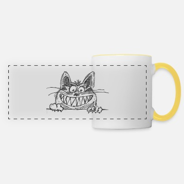 Teeth cat - Panoramic Mug
