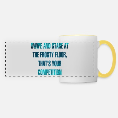 Floor Hockey Hockey: Swipe And Stare At The Frosty Floor, - Panoramic Mug