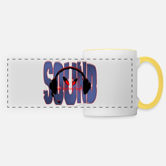Sounds Mugs et récipients - Sound - Mug panoramique blanc/jaune