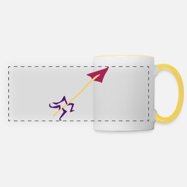 Stag Underwear Symbol - Shooting Arrow - Panoramic Mug
