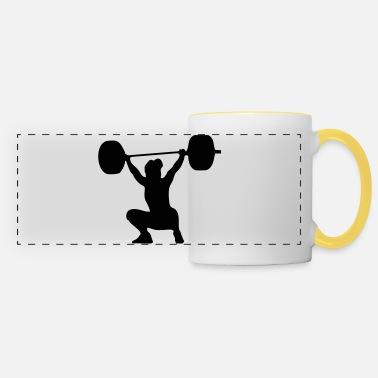 Weightlifting Weightlifter, weightlifting woman - Panoramic Mug