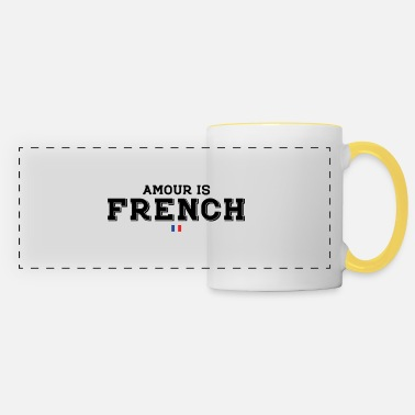 Amour AMOUR is FRENCH - Mug panoramique